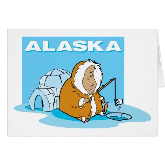 Alaska Fishing Card