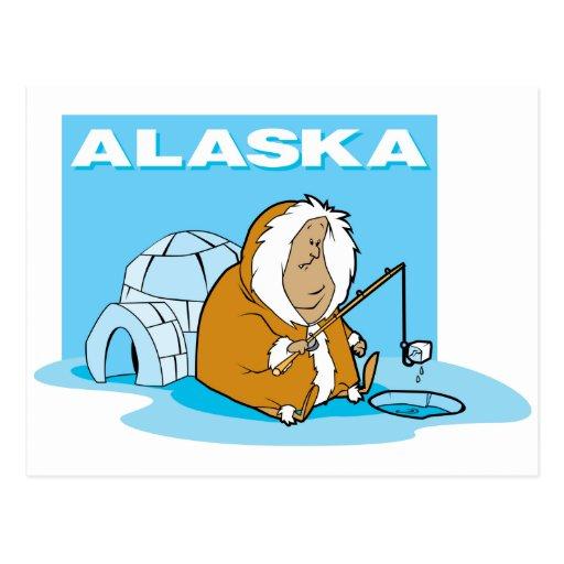 Alaska Fishing Post Card