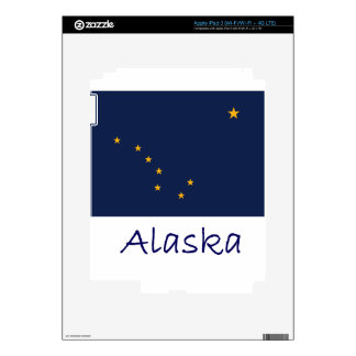 Alaska Flag And Name Skins For iPad 3