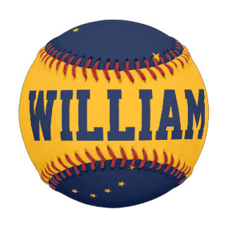 Alaska Flag Baseball with Customizable Name