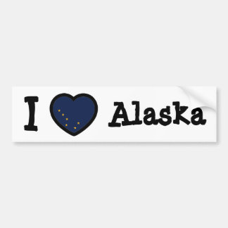 Alaska Flag Bumper Sticker