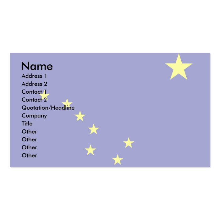 Alaska Flag Business Card