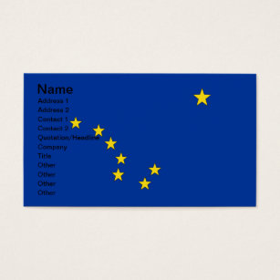 North star business cards templates zazzle alaska flag business card reheart Choice Image