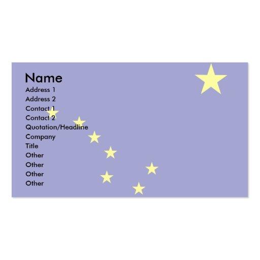 Alaska Flag Business Card Templates