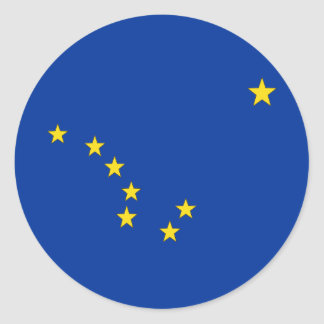 ALASKA FLAG CLASSIC ROUND STICKER