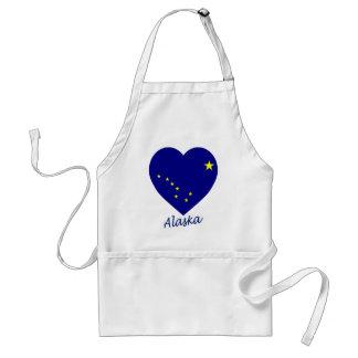 Alaska Flag Heart Apron
