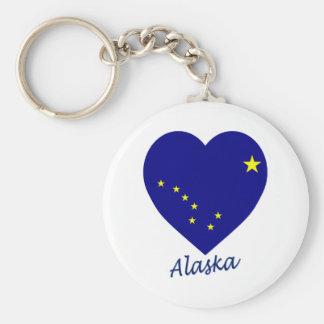 Alaska Flag Heart Key Chain