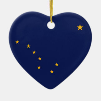 ALASKA FLAG HEART ORNAMENT