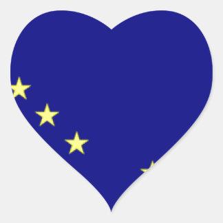 Alaska Flag Heart Sticker