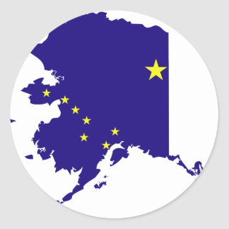 Alaska Flag Map Classic Round Sticker