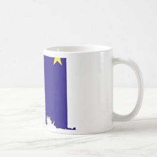 Alaska Flag Map Classic White Coffee Mug