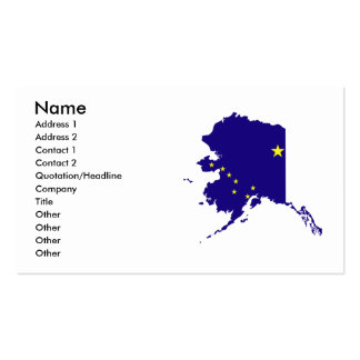 Alaska Flag Map Double-Sided Standard Business Cards (Pack Of 100)
