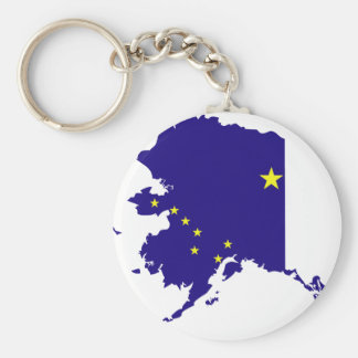Alaska Flag Map Keychain