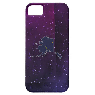 Alaska Flag Map on abstract space background iPhone 5 Cases