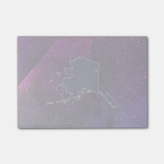 Alaska Flag Map on abstract space background Post-it® Notes