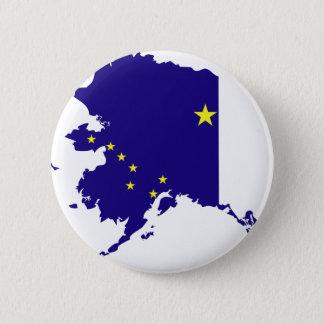 Alaska Flag Map Pinback Button