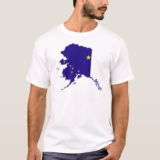 Alaska Flag Map T-Shirt