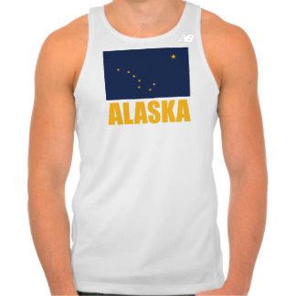 Alaska Flag Yellow Text Tank Top