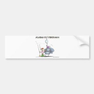 ALASKA FLYFISHERMAN ETIQUETA DE PARACHOQUE