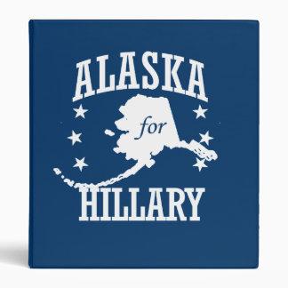 ALASKA FOR HILLARY VINYL BINDER