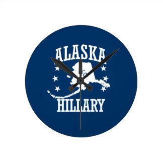 ALASKA FOR HILLARY ROUND CLOCK