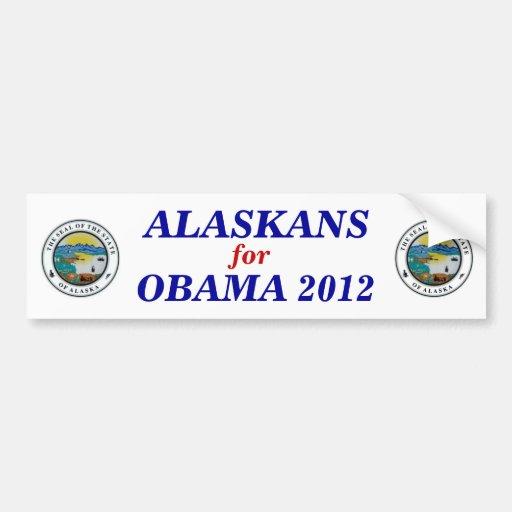 Alaska for Obama 2012 sticker Car Bumper Sticker