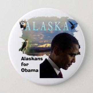 Alaska for Obama Button
