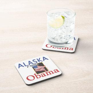 Alaska for Obama Election Beverage Coasters