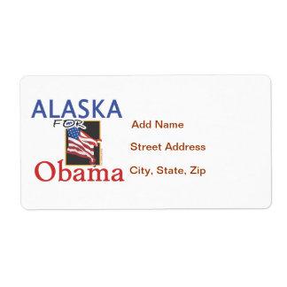 Alaska for Obama Election Shipping Label