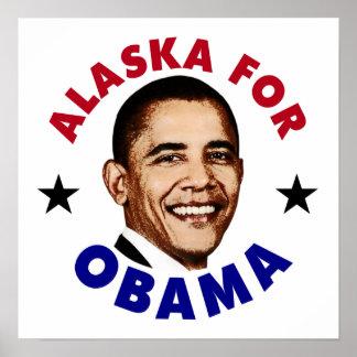 Alaska For Obama Poster