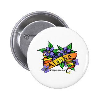 Alaska Forget Me Not 2 Inch Round Button