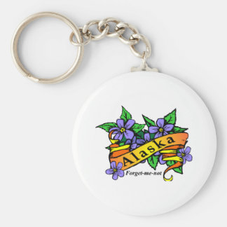 Alaska Forget Me Not Keychain