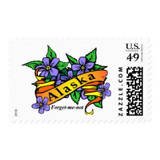 Alaska Forget Me Not Postage Stamp