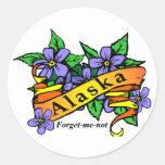 Alaska Forget Me Not Sticker