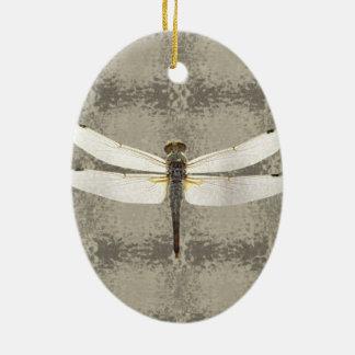 Alaska Four Spot Skimmer Dragonfly Ceramic Ornament