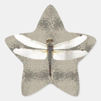 Alaska Four Spot Skimmer Dragonfly Star Sticker