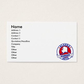Alaska Fred Karger Business Card