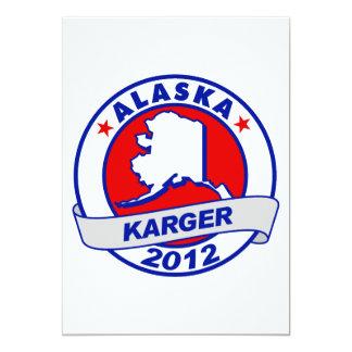 Alaska Fred Karger 5x7 Paper Invitation Card