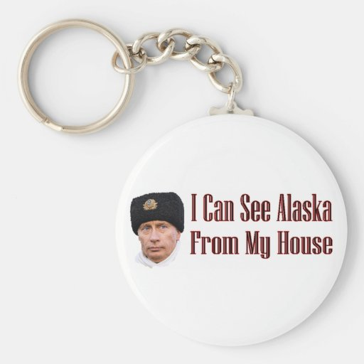 Alaska from my house basic round button keychain