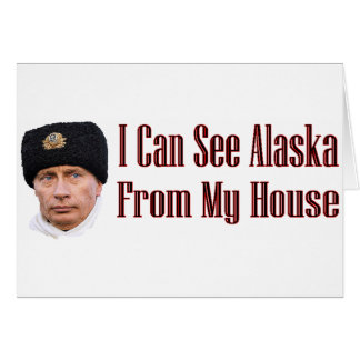 Alaska from my house greeting card