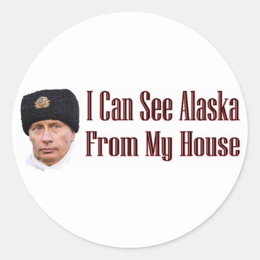 Alaska from my house classic round sticker
