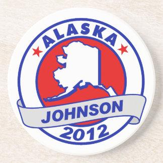Alaska Gary Johnson Beverage Coaster