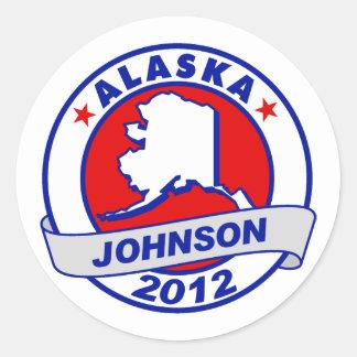 Alaska Gary Johnson Stickers