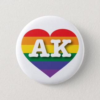 Alaska Gay Pride Rainbow Heart - Big Love Button