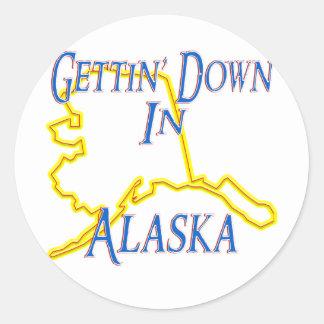 Alaska - Getting abajo Etiquetas Redondas