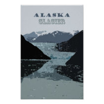 © Alaska Glacier Vintage USA Travel Art