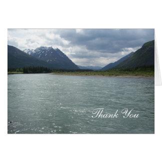 Alaska glaciers and lake card