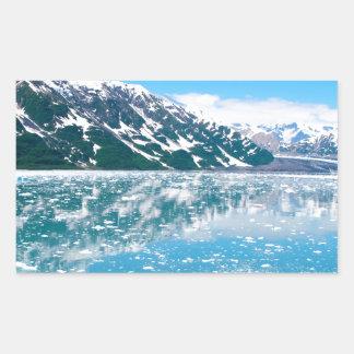 Alaska Glasier Pegatina Rectangular