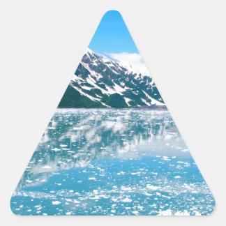 Alaska Glasier Pegatina Triangular