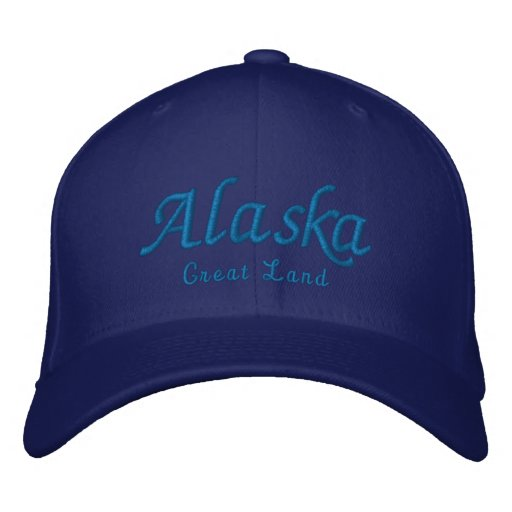 Alaska, Great Land Embroidered Baseball Hat